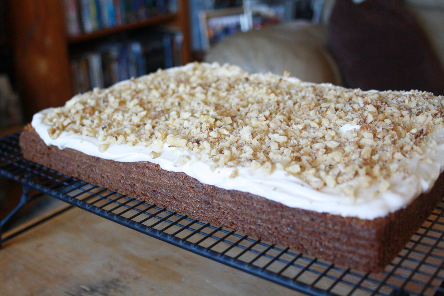 Carrot Cake with Cream Cheese Frosting | No Place Like Home